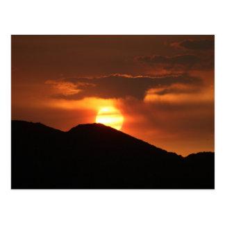 Postcard Photography of sunset in Arizona