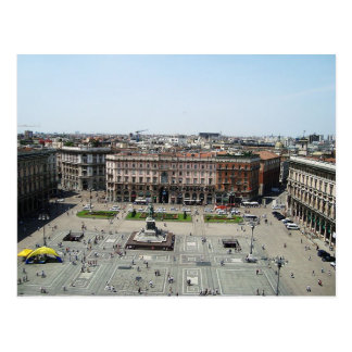 Postcard Piazza Duomo Milan, Italy Postal