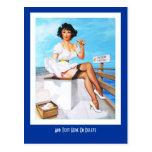 Postcard Pin up Girls Art Vintage Retro 93 Post Card
