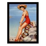 Postcard Pin up Girls Art Vintage Retro Print Post Card