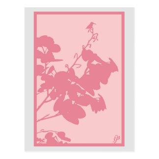 Postcard PINK HUMMINGBIRD