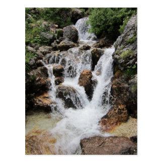 Postcard:Pisciadu Waterfall,Sella Massif Postcard