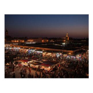 Postcard Places Jemaa el-Fna - Marrakech - Morocco