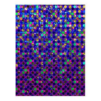 Postcard Polka Dots Sparkley Jewels