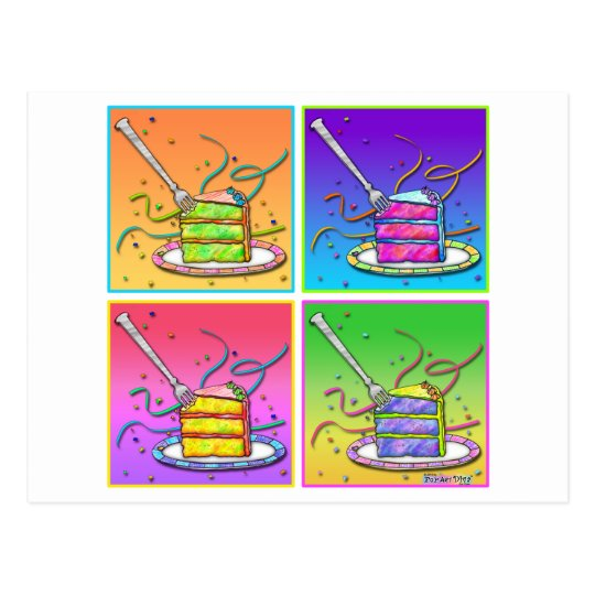 Postcard - Pop Art Cakes