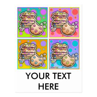 Postcard - Pop Art Cookies