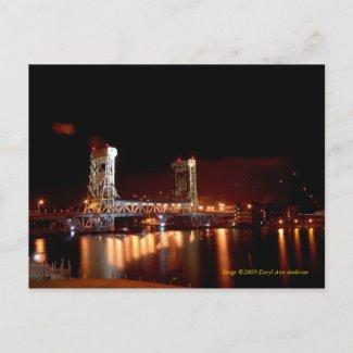POSTCARD, Portage Lift Bridge postcard