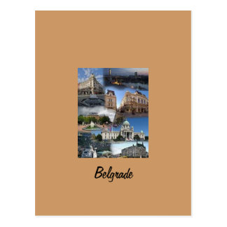 postcard portrait of Belgrade