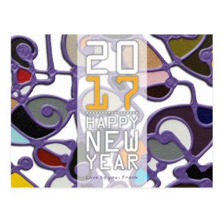 Postcard, postcard, 2017 Happy New Year Postcard