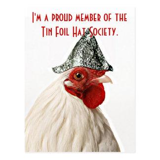 postcard, postcard with chicken