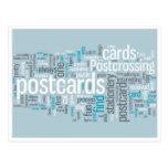 "Postcard ""Postcrossing blue"""