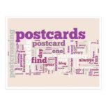 "Postcard ""Postcrossing purple"""