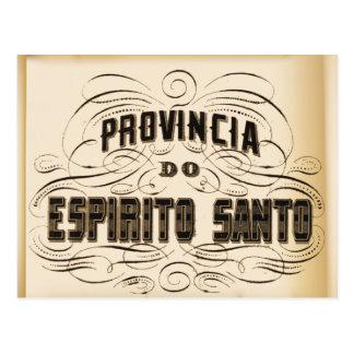 Postcard: Province of the Espirito Santo. Postcard
