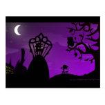 Postcard - Purple&Black Unicorn Silhouette Design
