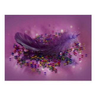 Postcard - Purple Fairys Feather