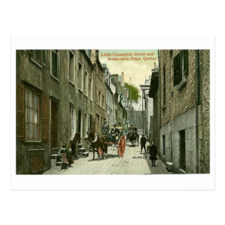 Postcard, Quebec City, Little Champlain Street Postcard