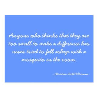 Postcard quoting Christine Todd Whitman