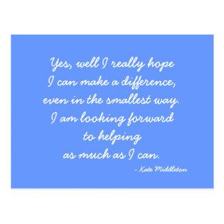 Postcard quoting Kate Middleton