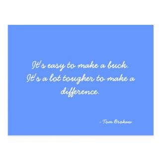Postcard quoting Tom Brokaw