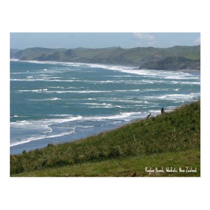 Postcard, Raglan Beach, New Zealand Postcard