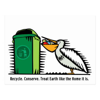 """Postcard: """"Recycle, Conserve"""""""