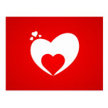 Postcard red heart