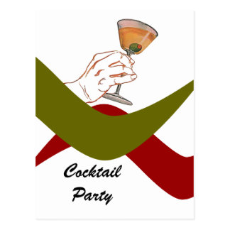 Retro cocktail party postcards zazzle for Classic housewarming gifts