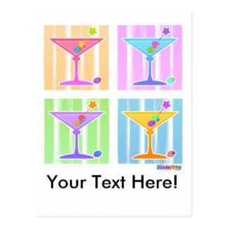 Postcard - Retro Pop Art Martinis