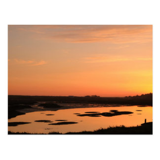 Postcard: Ria Formosa After Sunset. Portugal Postcard