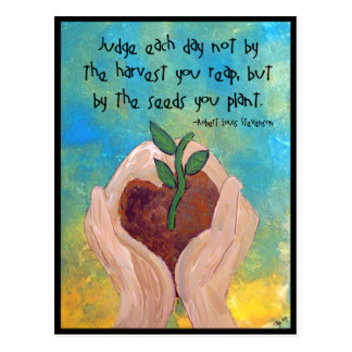 Postcard: Robert Louis Stevenson Quote Painting Postcard