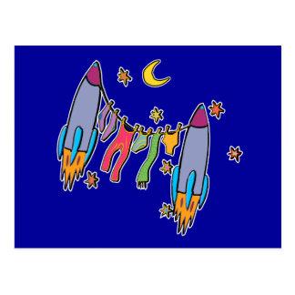 Postcard: Rockets & Laundry