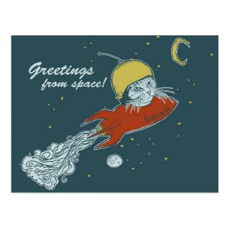 postcard - rocketship