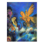 Postcard:  Roger & Angelica 2 by Odilon Redon
