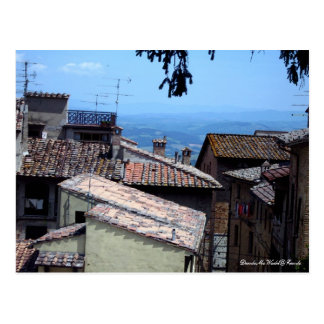 Postcard - Rooftops over San Gimignano
