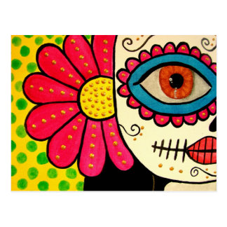 "Postcard ""Rosa Mexicano""-day of the dead"