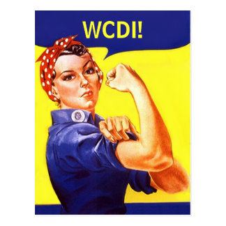 Postcard Rosie The Riveter Text Msg WE CAN DO IT!