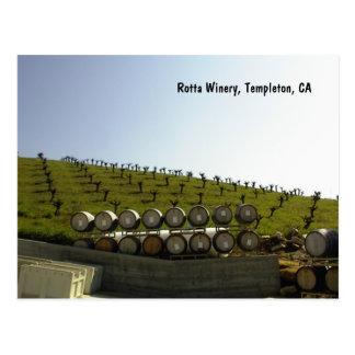 Postcard: Rotta Winery Vineyard, Templeton, CA