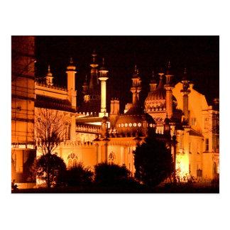 Postcard Royal Prince regent Pavilion (night) the