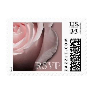 Postcard RSVP Wedding Rose Postage Stamp