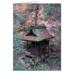 Postcard: Rusty shrine with autumn leaves Greeting Cards