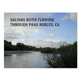 POSTCARD:  Salinas River Flowing in Paso Robles Postcard