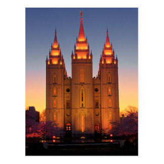 Postcard Salt Lake Temple at Dusk