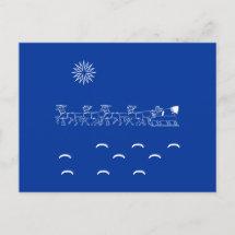 Postcard - Santa's Sleigh ride