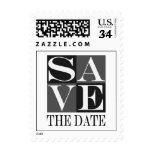 Postcard Save The Date Design Wedding Postage