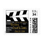 Postcard Save the Date Movie Theme Stamp