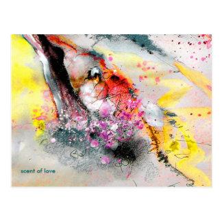 "Postcard ""scent of love"""