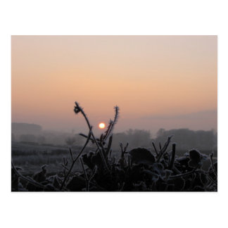 Postcard/Scotland at dusk in Winter Postcard
