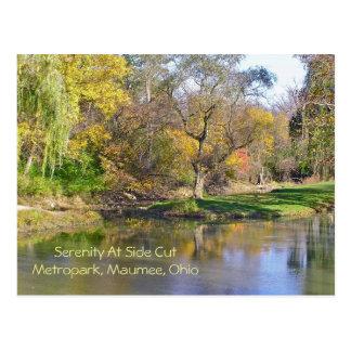 "postcard, ""Serene Scene at Side Cut Metropark"""