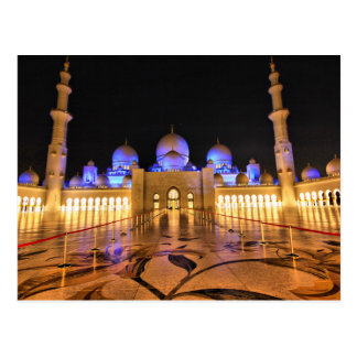 Postcard Sheikh Zayed Large Mosque, Abu Dhabi