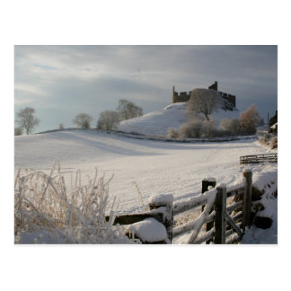 Postcard showing Hume Castle in Winter